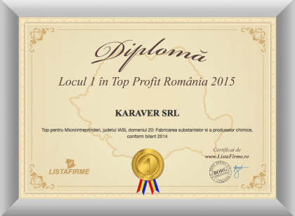1st Diploma Romania KARAVER